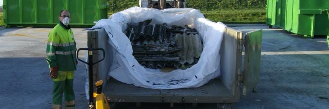 2018 – Calendrier de collecte des déchets d'amiante